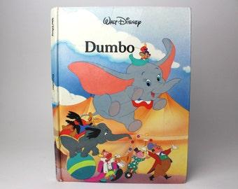 Vintage 1986 Dumbo The Elephant Hardcover Book - Walt Disney Gallery Books Twin Books Flying Elephant Walt Disney Circus Animals Mouse