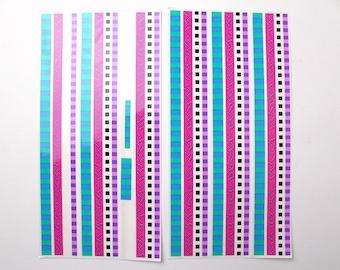 Vintage Mrs Grossman's Design Lines Sticker Set - 80s 90s Geometric Memphis Shapes Sprinkles Squares Confetti Scrapbooking Party Pattern