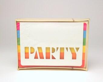 25 Vintage Hallmark Rainbow Party Invite Cards Birthday Celebration Summer 80s 90s Invitations Colorful Modern Minimalist Old School Evites