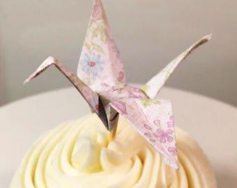 Origami Cupcake Picks Decor Paper Topper Baby Shower Cake Birthday