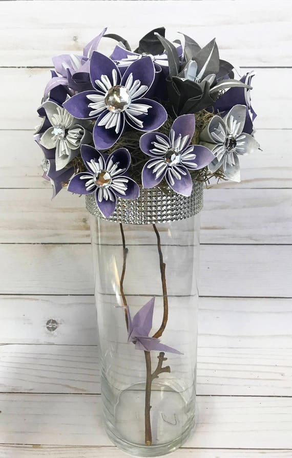 Paper Flowers Wedding Centerpiece Wedding Bouquet Origami Etsy
