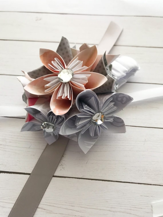 Origami Flower Corsage For Bridal Party Or Special Occasion Etsy