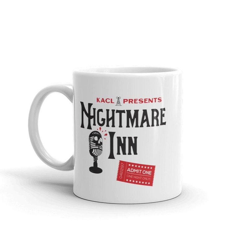 Witty TV Comedy Frasier Inspired KACL Talk Radio Ham Radio Nightmare Inn  Dishwasher and Microwave Safe Ceramic Coffee Mug (11oz and 15oz)