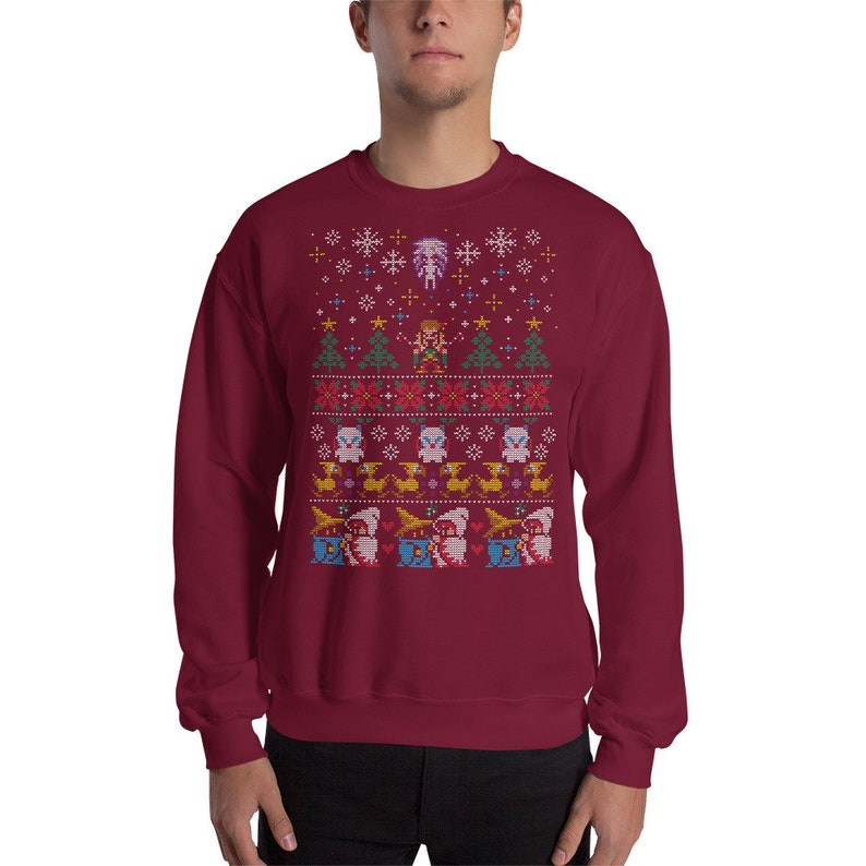 02570a1b4a160a Ugly Christmas Sweater RPG Classic Video Game Gaming Final