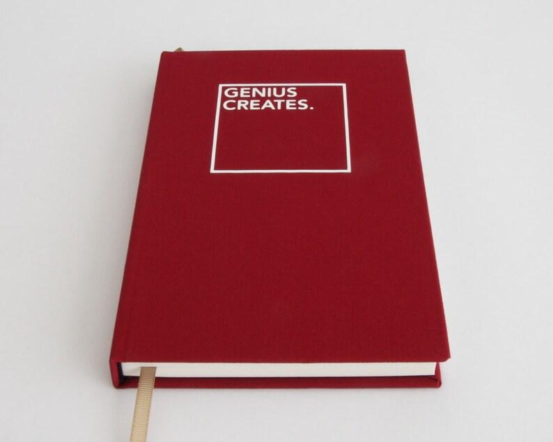 Genius Creates Sketchbook  Gift Idea for Creatives Artists image 0