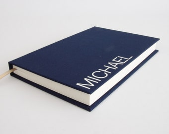 Boyfriend Gift - Personalized Notebook / Sketch Book - Range of Colours Available. Perfect Gift for Him / Men