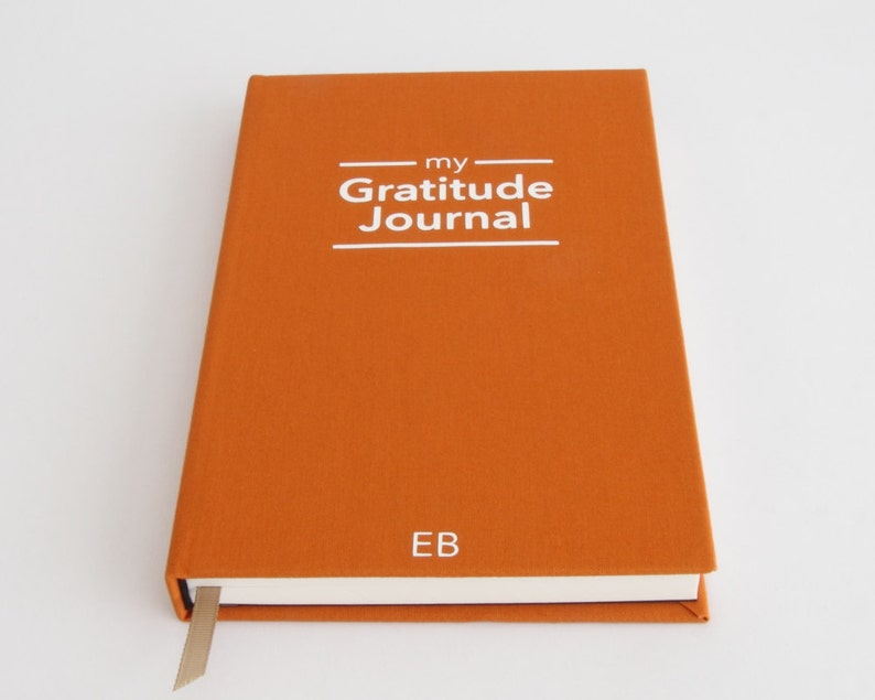 Gratitude Journal  Personalised Gift  Notebook  Unique Gift image 0