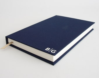 Husband Gift - Personalized Hardback Notebook with Monogram. Various Colours. Unique Gift for Husband - Wife to Husband Gift