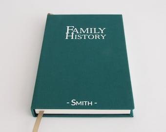 Family History Notebook - Personalised Gift Idea for Grandma / Grandpa