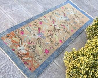 Handmade Rug, Rug Oushak, Carpet Rug, Runner Rugs, 73 X 175 Cm- 2.4 X 5.7 ft Living Room Rug, Kitchen Rug, Faded Rugs, Carpet Runner Rug