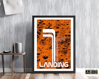 moon landing, lunar, surface, map, Nasa, Apollo, mission, space, age, race, Neil, Armstrong, Buzz Aldrin, retro, art, wall, print CAT00579