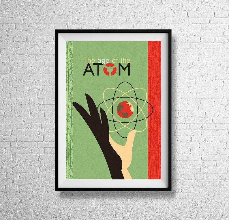 Age of The Atom  Fine Art Gallery Print  retro atomic era image 0