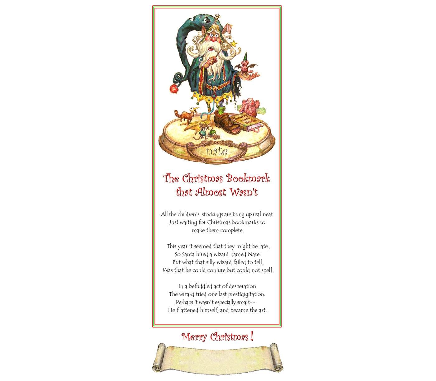 Weihnachten Gedicht Bookmark Kunst Weihnachten Humor | Etsy