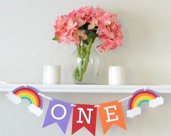 First Birthday Rainbow Decoration