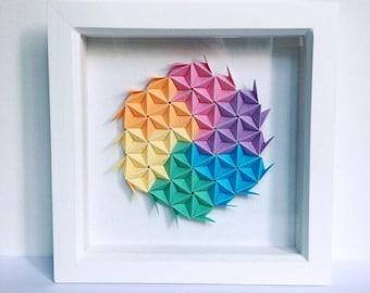 Geometric Wall Art, Origami Wall Art, Paper Wall Art, Modular Art, Modern Art, Origami Artwork, Paper Wall Decor