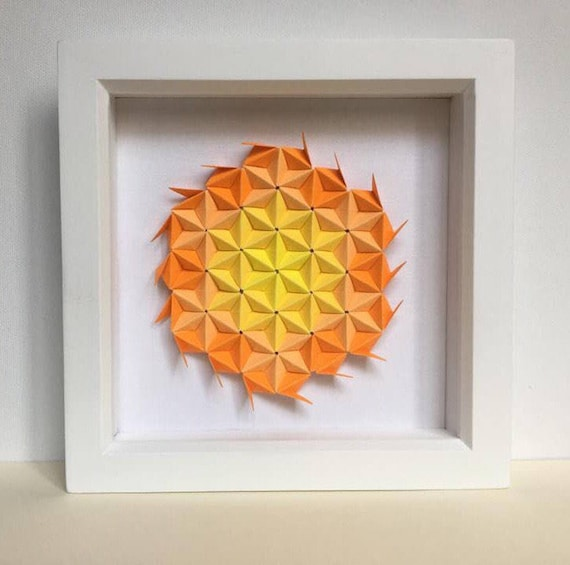 Summer Flower Origami Wall Art Flower Paper Wall Art 3D | Etsy