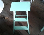 Vintage Wooden Step Stool Ladder Painted That Wonderful 40 39 s Green. Makes a Great Display Piece.