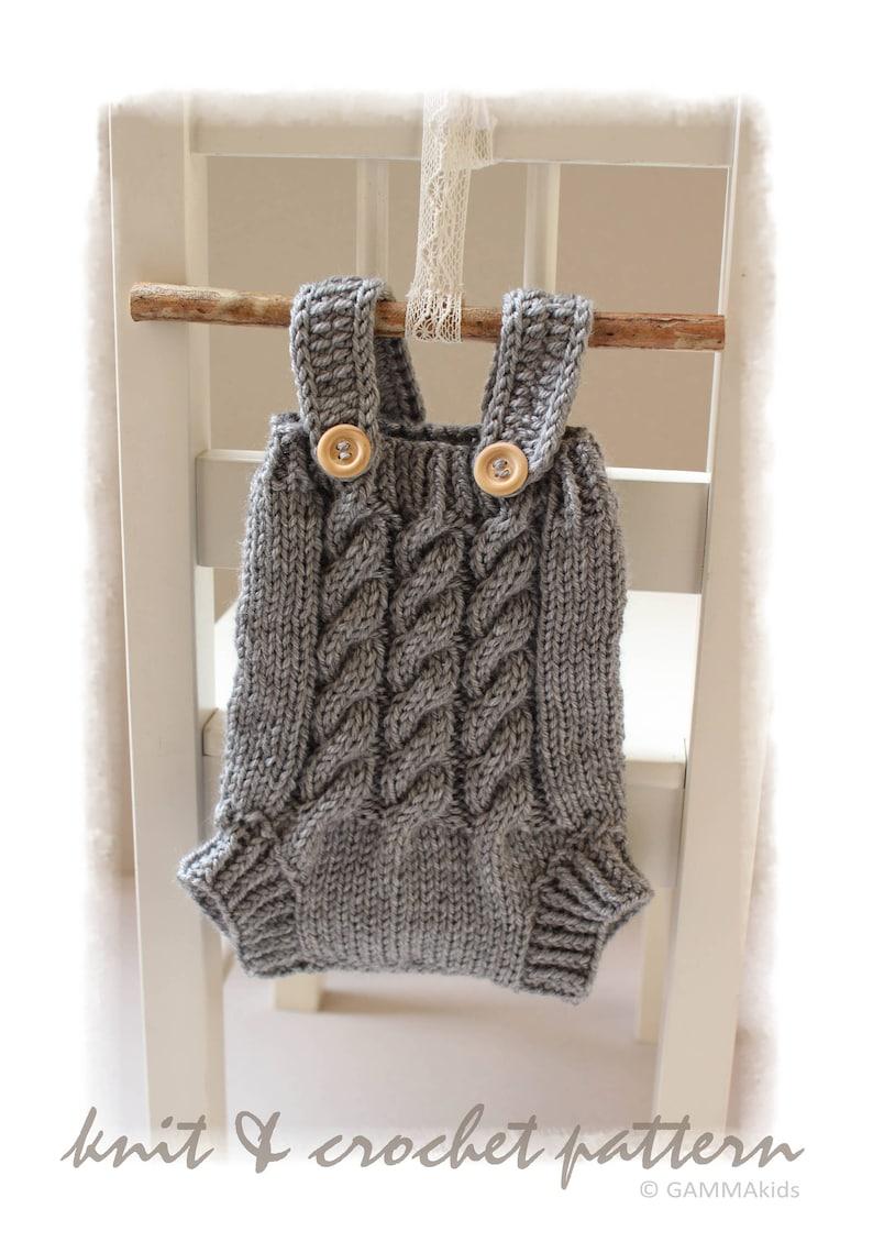 4213f9d68 DIY Newborn 0-14 days knit PROPS Cable baby Boy bodysuit