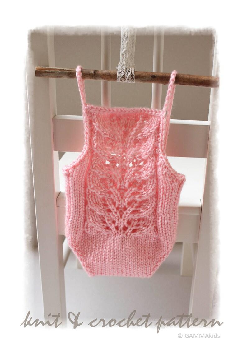 e0099fedb Lace Newborn Backless bodysuit Knitting PATTERN DIY Newborn