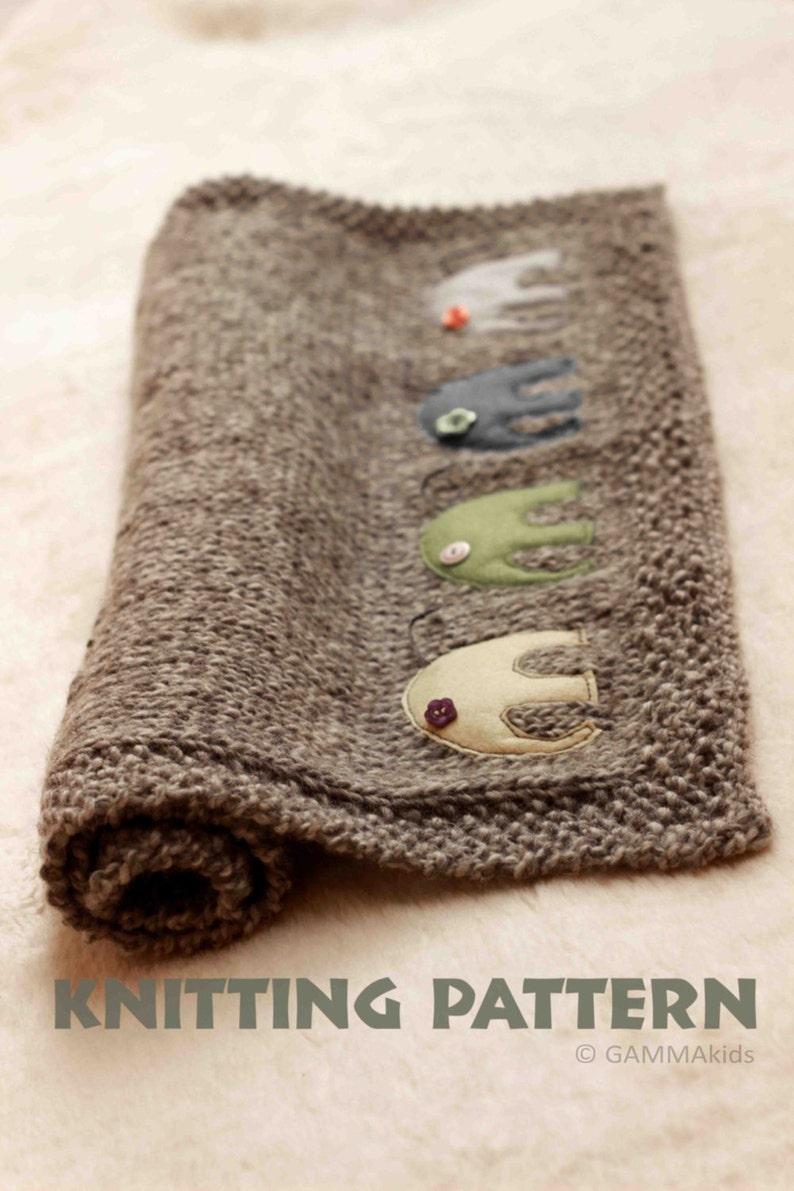 5ad75d693 Baby blanket KNITTING PATTERN Knitting elephant blanket Baby