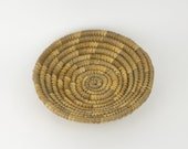Round Coiled Woven Basket - Tray - Bohemian Style - Coffee Table - Houseplant Decor - Home Office - Vintage - Organization - Storage