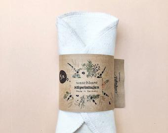 5 Slipeinlagen aus Bio Baumwolle für den Alltag oder sehr leichte Periode, mini panty liners