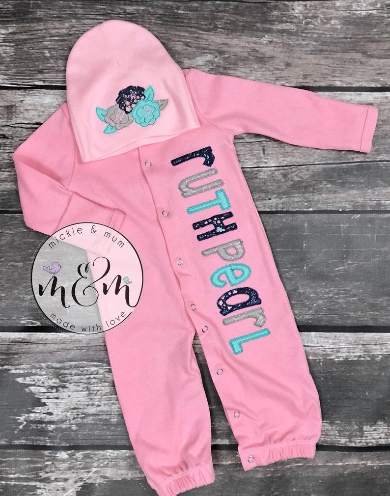 Baby Girl Layette Baby Girl Gown Little Sister Gown Baby Girl Romper Big and Little Sister Shirt Set Baby Sister Romper