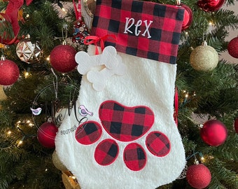Pet Christmas Stocking - Dog Christmas Stocking - Cat Christmas Stocking - Dog Stocking - Cat Stocking - Christmas Stocking - Pet Stocking