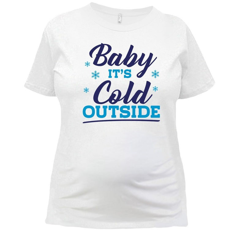 161f33a92ca62 Funny Maternity Shirt Baby Christmas Baby Winter Announcement | Etsy