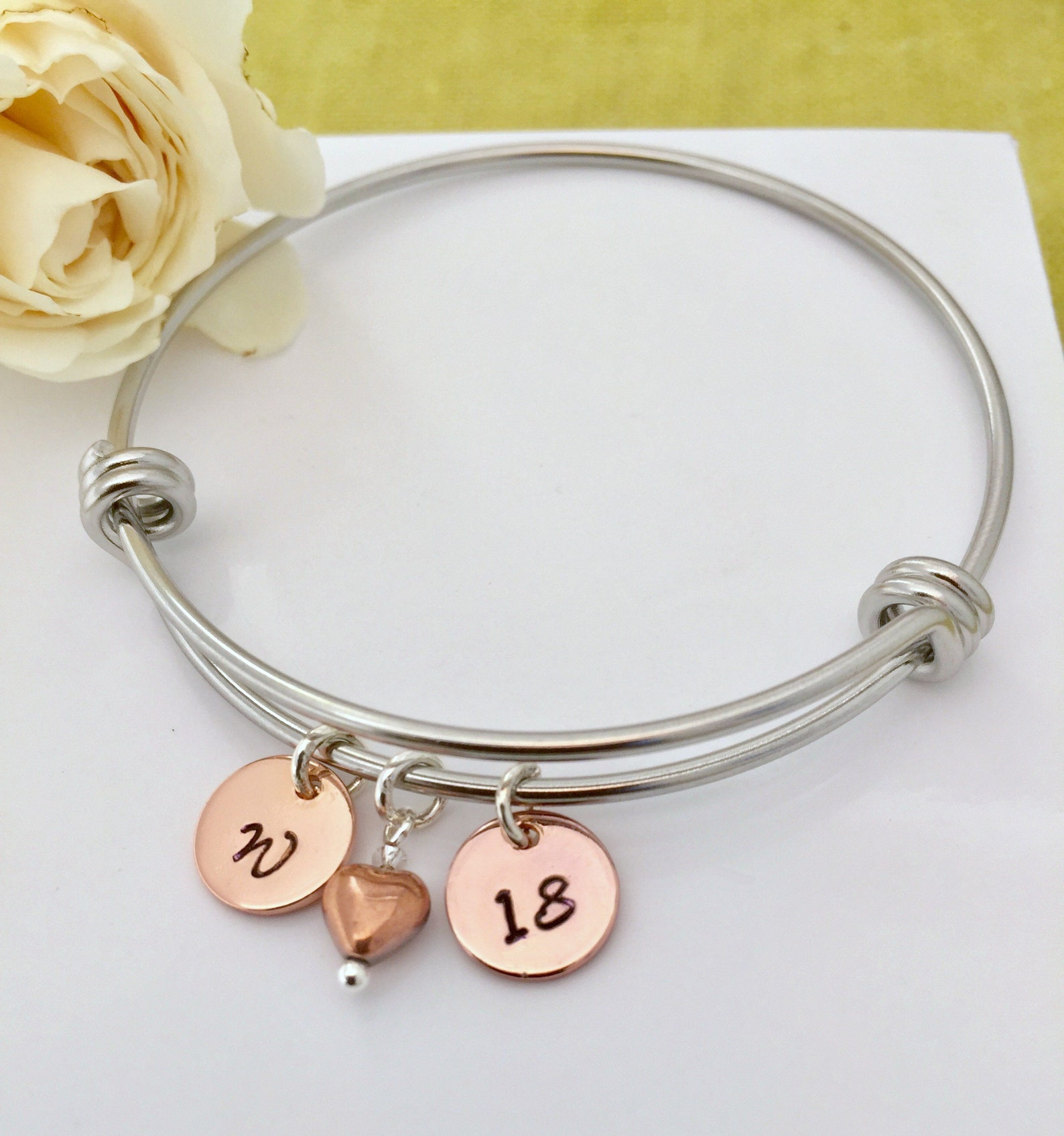 Personalised Rose Gold Bracelet