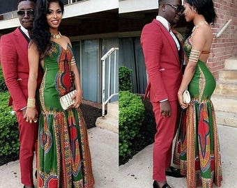 d5a9ccbf192d African Couples Outfit for Prom Couples Engagement Dress