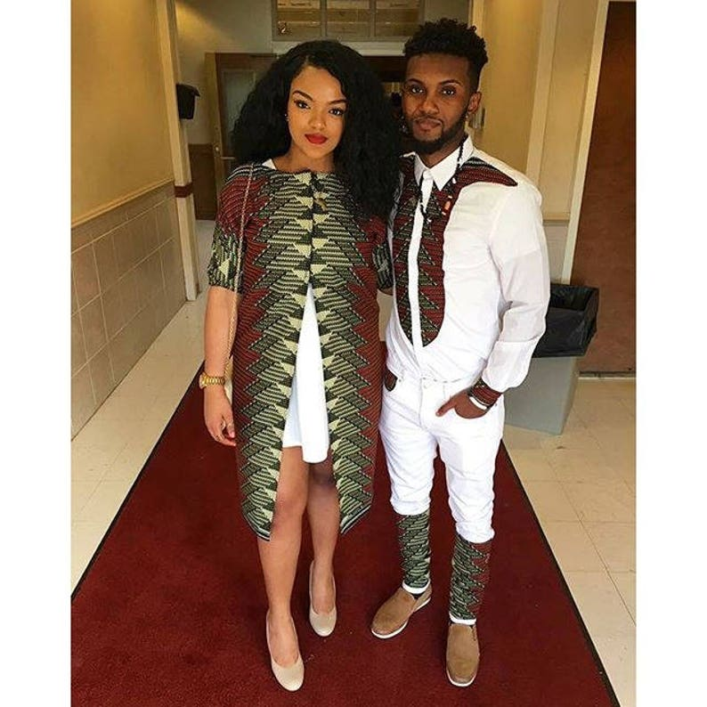 0c13673fb93 African Couples Outfit  Ankara Couples Outfit Top and Bottom