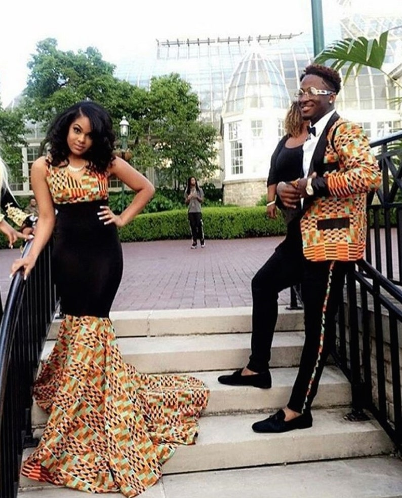 African Couples Outfit Couples Prom Dress Couple S Etsy