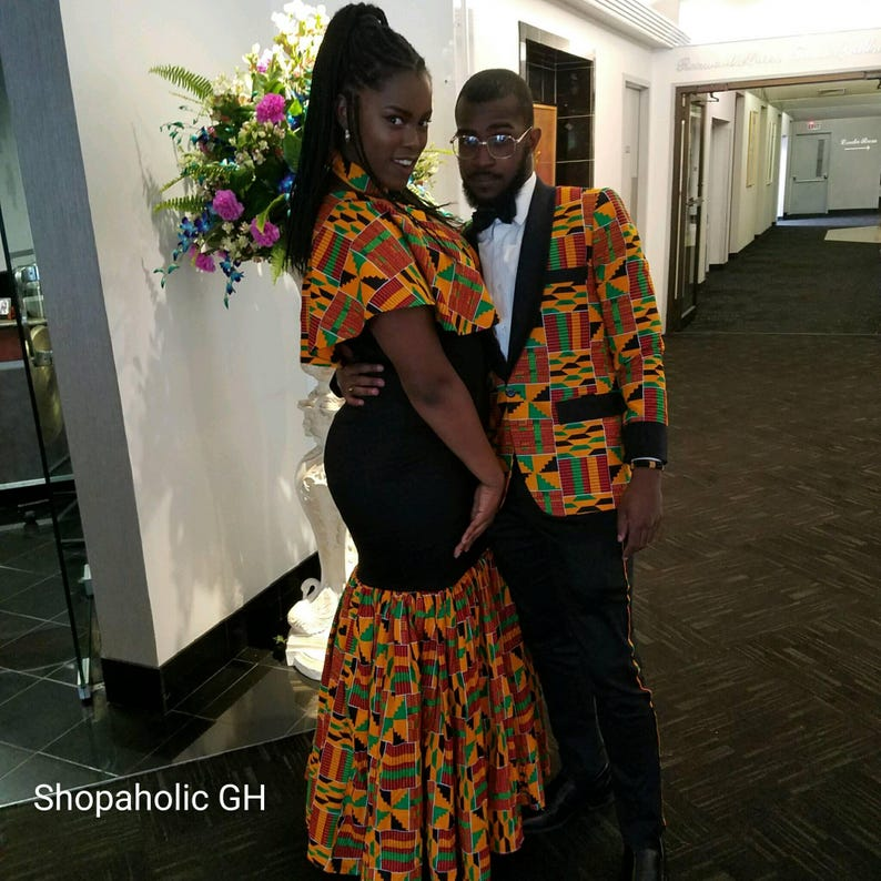 f98343f7193 Dashiki Couples Outfit Kente Couples Outfits African Couples