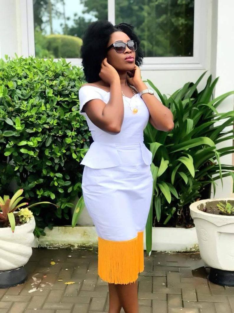 detailed look 2a104 2a7d7 Bianco e oro dashiki Abito, Prom Dress, vestito di fidanzamento, Abito da  sposa africano, Abbigliamento donna