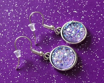 Lavender  Druzy Earrings Mauve Faux Druzy Earrings Light Purple Druzy Earrings