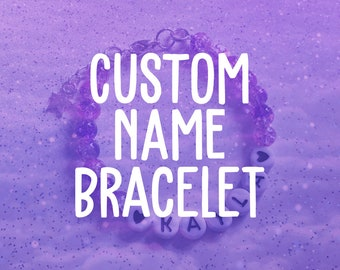 Custom Name Bracelet | Kawaii, Personalised, Best Friend, Favourite Anime/Manga/Video Game/TV Character, Kpop Bias, Friendship Bracelet