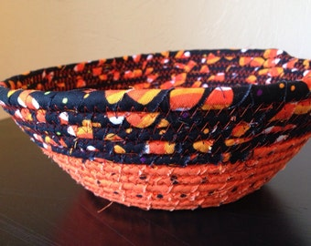 Halloween Small Fabric Coil Bowl