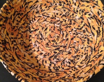 Cheetah Fabric Coil Bowl