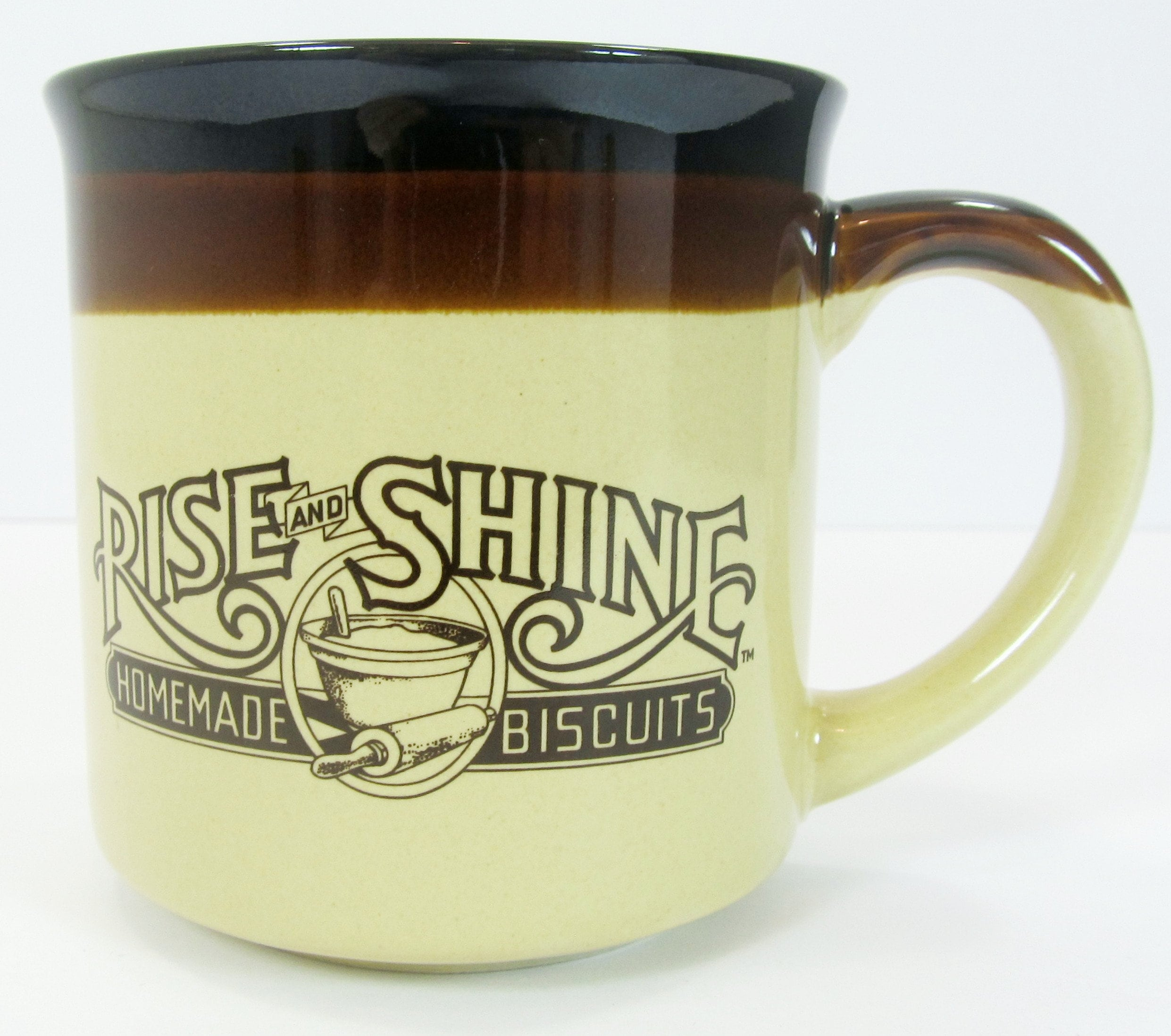 5-Hardee's Vintage Coffee Cup Mug 1986 Rise and Shine Homemade Biscuits