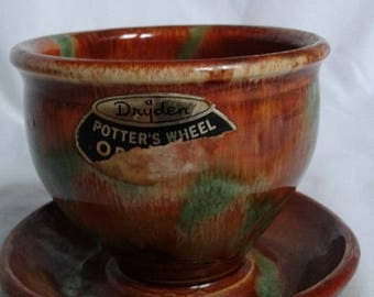 Vintage Dryden Potter's Wheel Original Planter, 1980's