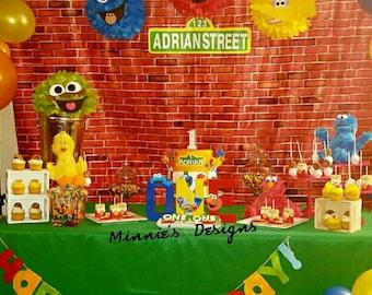 Sesame Street letter props,Sesame Street cake smash,Sesame photo props,Sesame Street birthday shirt,Sesame Street 1st birthday,Elmo birthday