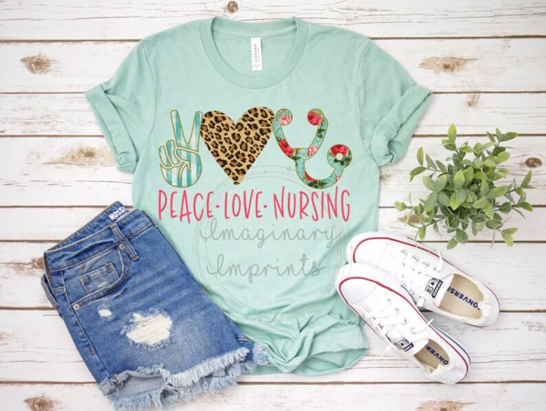 b924d41a10c6f Peace love Nursing Shirt Nursing shirt Gift for Nurses | Etsy