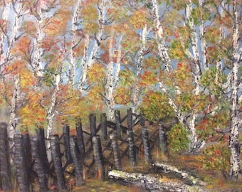 A path to the lookout. 16 x 20 inch oil painting on cotton canvas by Susan Cere