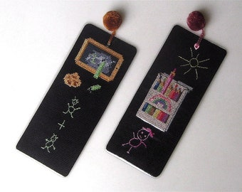 Embroidered & laminated bookmark