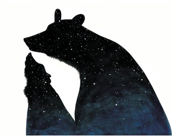 Ursa Major and Minor, Arcas and Callisto Matte Art Print