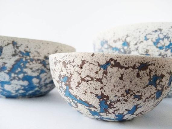 Set of 4 Concrete Nesting Bowls/Ring holder/planter/Air Plant Holder/jewelry dish/Home Decor/Housewarming Gift/Fruit Bowl/Snack bowl