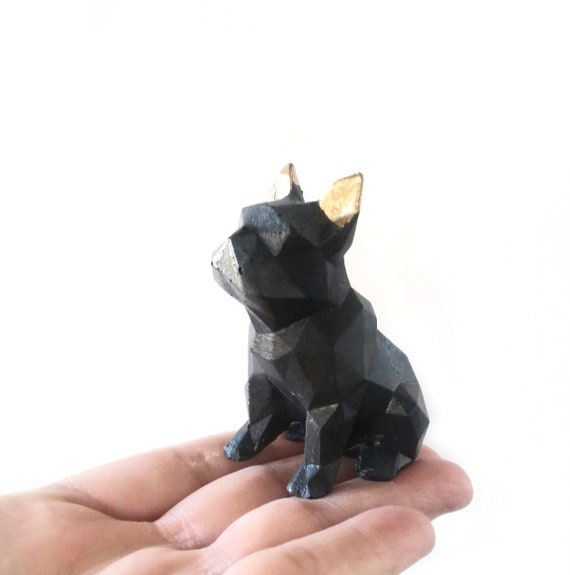 Concrete Boston Terrier, French BullDog, Concrete dog, Frenchie, Bulldog, Frenchie Statue, Frenchie Decor