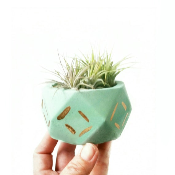 Geometric Planter/Air Plant Holder/Desk Planter/Geometric decor/New Home Gift/Housewarming Gift/Succulent Planter/Modern Planter/Mint decor