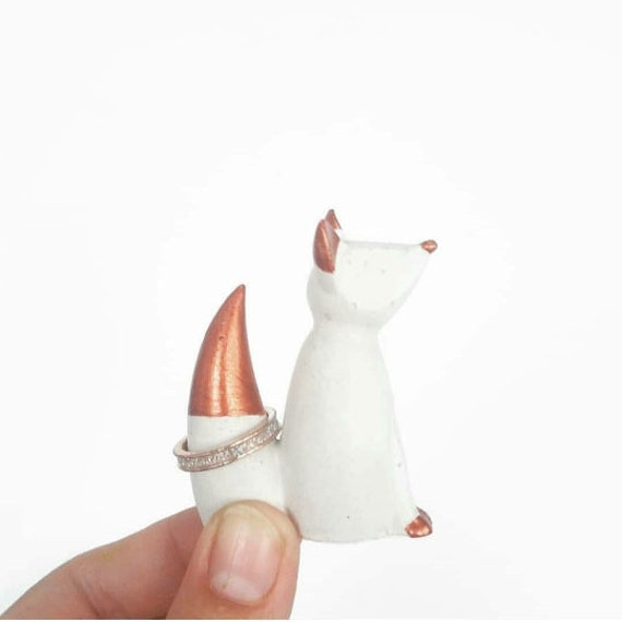 Fox Ring Holder, Fox Decor, Ring Holder, Jewelry Holder, Jewelry Dish, Ring Cone, Fox, Ring Tree, Jewelry Storage